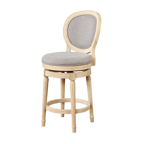 Cocoa Wood Swivel Counter Stool