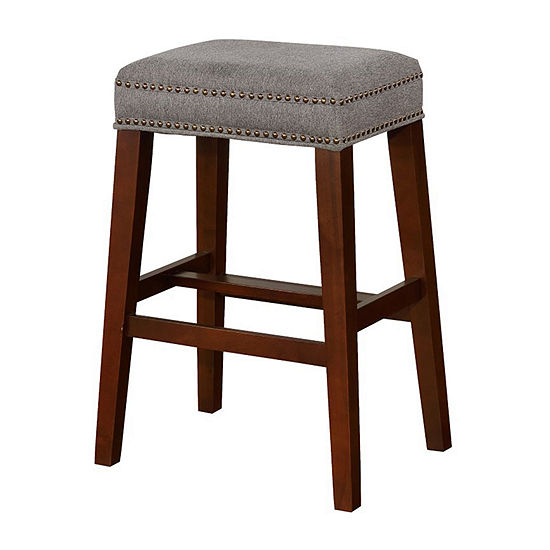 Walt Nailhead Trim Upholstered Bar Stool