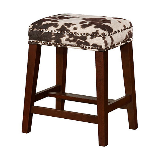 Walt Nailhead Trim Upholstered Counter Stool