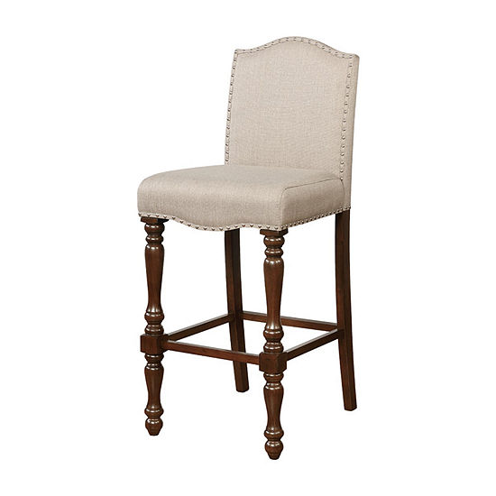 Willow Nailhead Trim Upholstered Bar Stool