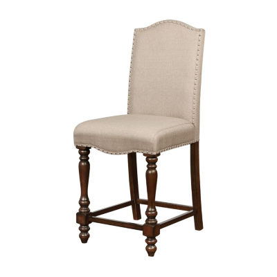 Willow Nailhead Trim Upholstered Counter Stool