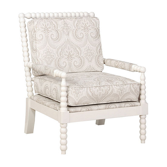 Sussex Spindal Wood Frame Accent Chair