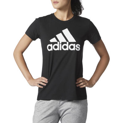 adidas Bos Graphic Tees Womens Crew Neck Short Sleeve Graphic T-Shirt