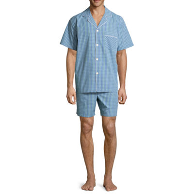 Stafford Men's Notch Collar Short Sleeve/ Short Leg Pajama Set