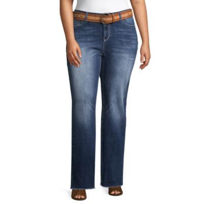 Wallflower Curvy Fit Bootcut Jeans-Juniors Plus