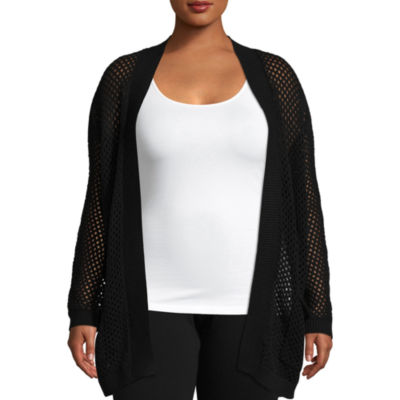 Arizona Mesh Stitch Cardigan- Juniors Plus