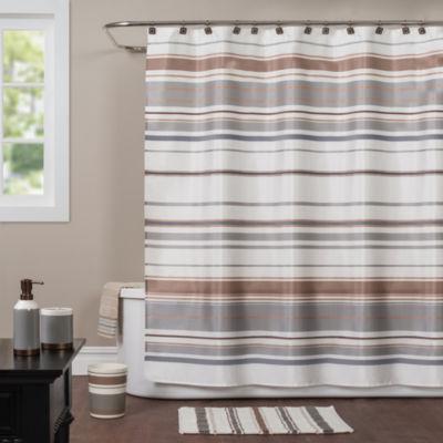 Saturday Knight Colorware Stripe Shower Curtain