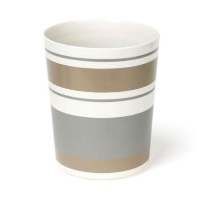 Saturday Knight Colorware Stripe Waste Basket