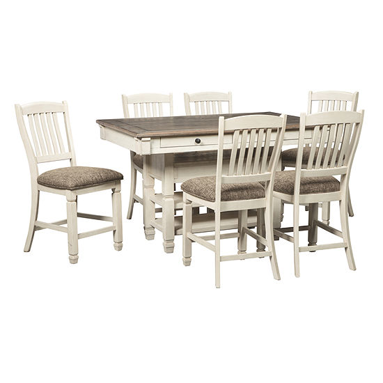 Signature Design by Ashley® Roanoke 7-Piece Counter Height Rectangular Dining