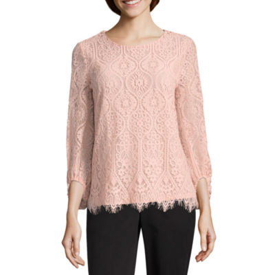 Worthington All Over Lace Top