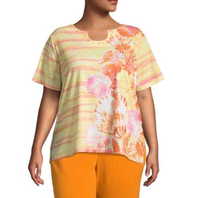 Alfred Dunner Still My Sunshine Seashell T-Shirt- Plus