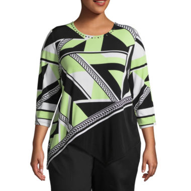 Alfred Dunner In The Limelight Geometric T-Shirt- Plus