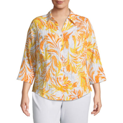 Alfred Dunner Still My Sunshine Tropical Top- Plus
