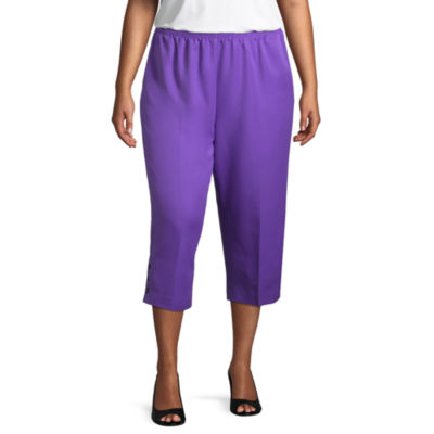Alfred Dunner All Aflutter Classic Fit Capri- Plus