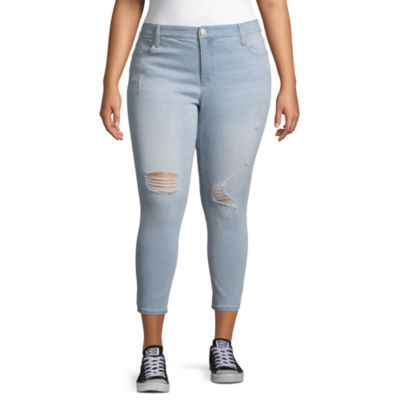Boutique + Skinny Ripped Ankle Jean - Plus