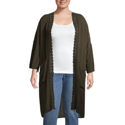 Boutique + Long Sleeve Kimono - Plus