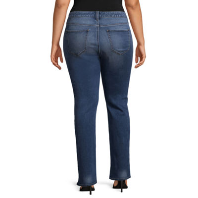 Boutique + Slim Fit Bootcut Jeans - Plus