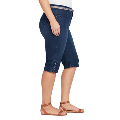Gloria Vanderbilt® Sasha Belted Denim Skimmer-Plus