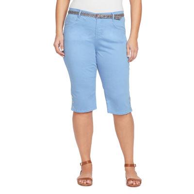 Gloria Vanderbilt® Sasha Belted Twill Skimmer-Plus