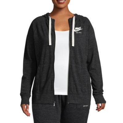 Nike® Long Sleeve Gym Vintage Hoodie - Plus