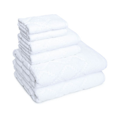 American Dawn Hart Diamond 6-pc. Solid Bath Towel Set