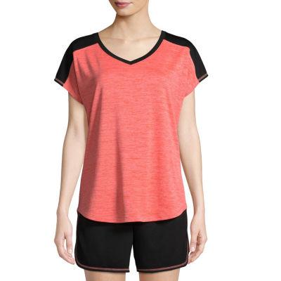St. John's Bay Active Short Sleeve T-Shirt-Womens