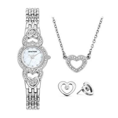 Armitron Womens Silver Tone Bracelet Watch-75/5650mpsvst