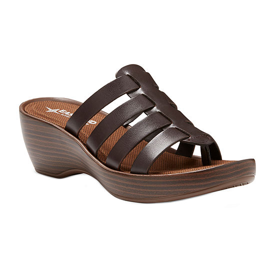 Eastland Womens Topaz Wedge Sandals