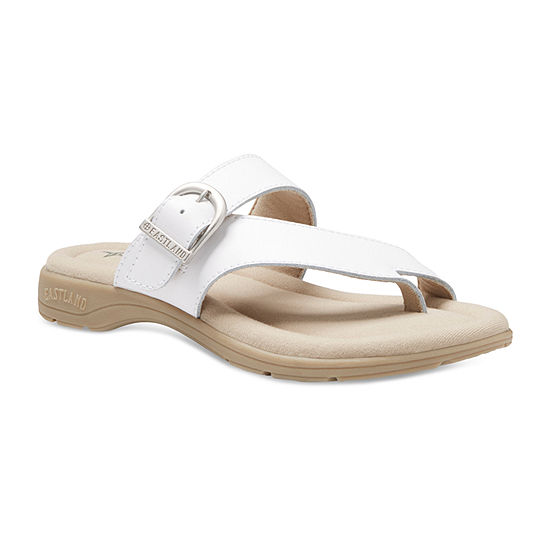 Eastland Womens Tahiti Slip-On Open Toe Flat Sandals