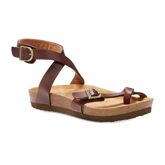 Eastland Womens Squam Adjustable Strap Flat Sandals