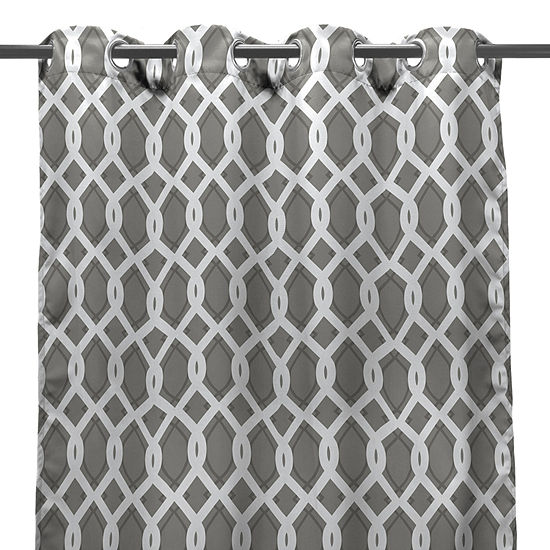 Grommet-Top Single Outdoor Curtain Panel