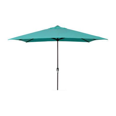 Jordan Manufacturing 6.5-Ft Rectangle Steel Patio Umbrella