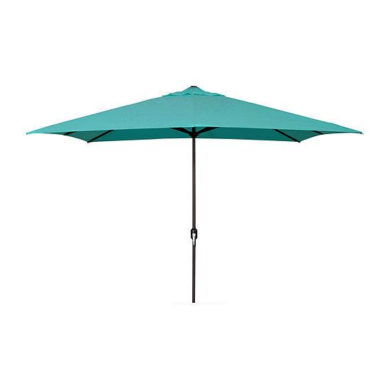 Jordan Manufacturing 65 Ft Rectangle Steel Patio Umbrella