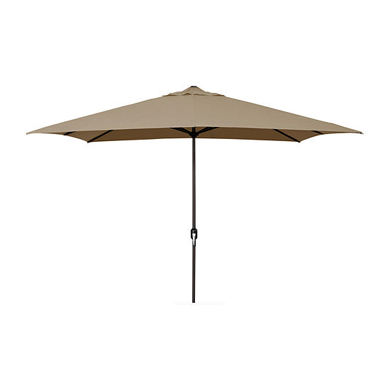 Jordan Manufacturing 65 Ft Rectangle Steel Patio Umbrella