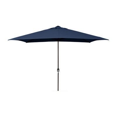 Jordan Manufacturing 6.5-Ft Rectangle Steel Patio Umbrella