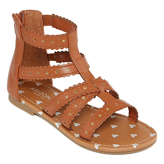 5ea45d24151a Arizona Little Kids Girls Candy Gladiator Sandals - JCPenney
