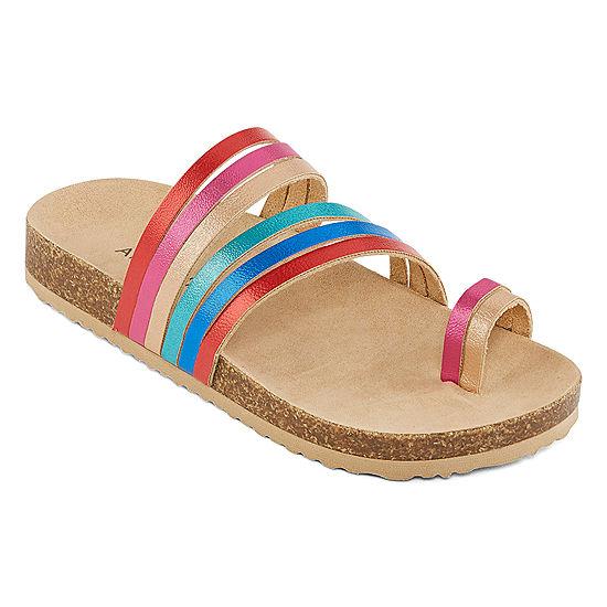e0fa23cb26ff Arizona Little Kid Big Kid Girls Neapolitan Flat Sandals - JCPenney