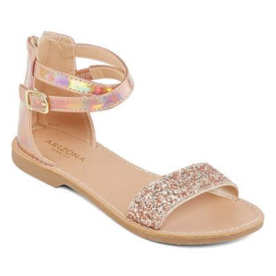 Arizona Little Kid/Big Kid Girls Kylie Adjustable Strap Flat Sandals