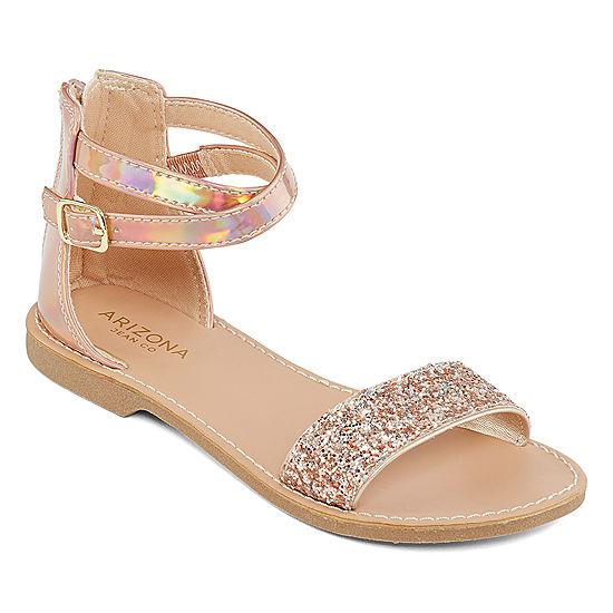 0de057df67a58 Arizona Little Kid Big Kid Girls Kylie Adjustable Strap Flat Sandals -  JCPenney