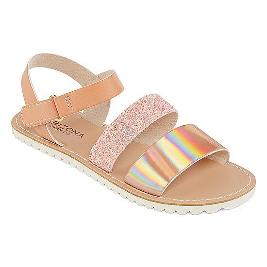 7c536fa22bd7 Arizona Little Kid Big Kid Girls Maddie Flat Sandals - JCPenney