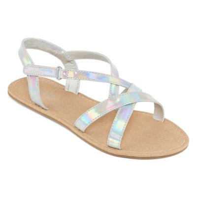 Arizona Girls Royce Adjustable Strap Flat Sandals