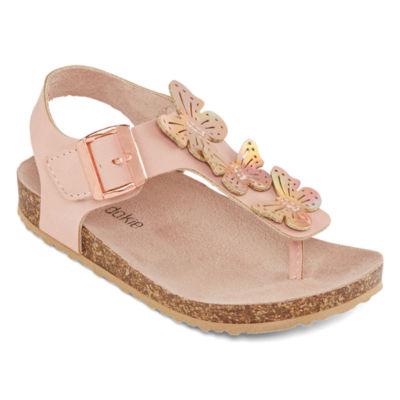 Okie Dokie Lil Mocha Girls Footbed Sandals