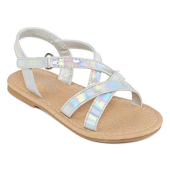 Okie Dokie Toddler Girls Lil Royce Adjustable Strap Flat Sandals