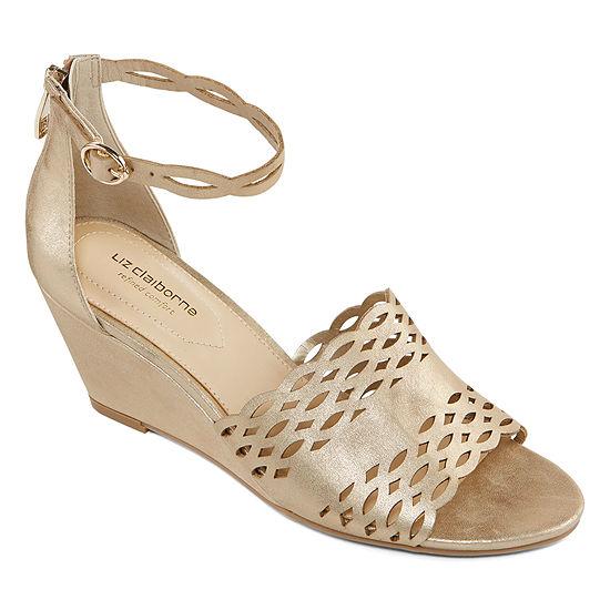 Liz Claiborne Womens Ivan Wedge Sandals