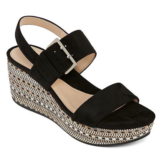 Andrew Geller Womens Ag Jasmine Wedge Sandals