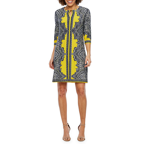 Studio 1 3/4 Sleeve Sheath Dress