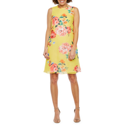 Jessica Howard Sleeveless Floral Swing Dresses