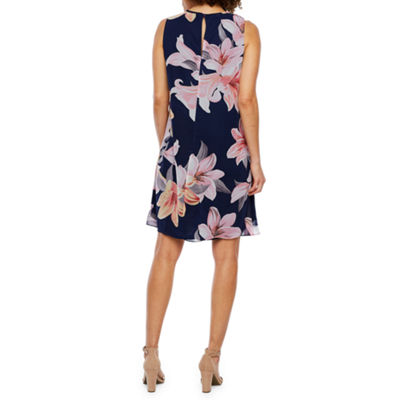 Jessica Howard Sleeveless Floral Swing Dresses