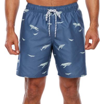 St. John's Bay Printed Nylon Swim Trunks