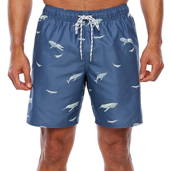 St. John's Bay Printed Nylon Swim Trunks
